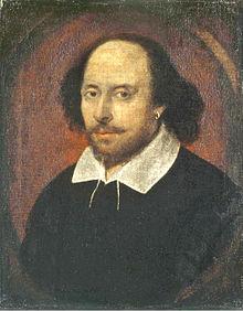 Portrait de William Shakespeare, peut-être par le peintre John Taylor, huile sur toile, 1610