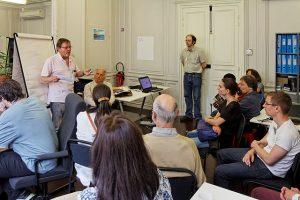 Un des ateliers proposés aux vsiteurs -  CC-BY-SA 3.0 The supermat