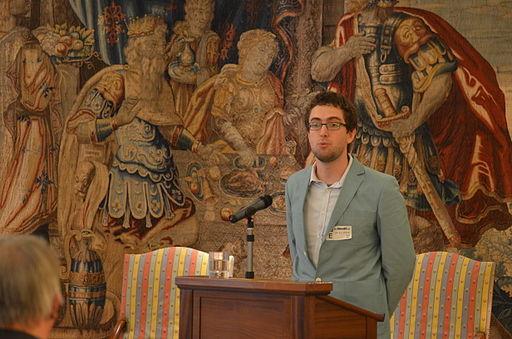 Maarten Deneckere, Président de Wikimedia Belgium, par Paul Van Welden - CC-BY-SA-4.0 via Wikimedia Commons