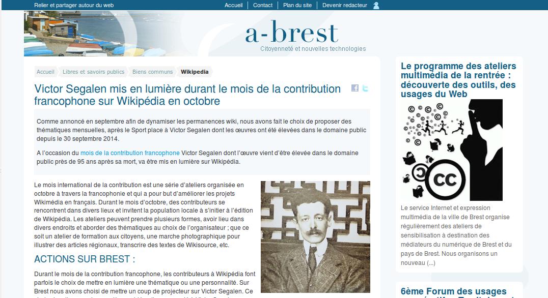 Article sur l'action menée à Brest