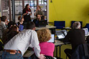 Wikipermanence à Rennes en 2012. Auteur : Trizek, licence : CC-By-SA