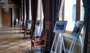 Les photos gagnantes exposées dans la salle des Arcades de l'Hôtel de Ville,lors du forum