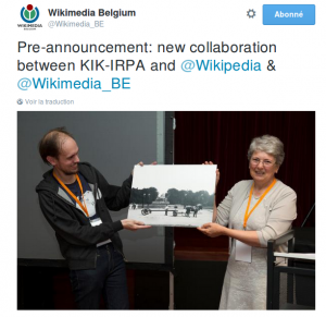 Annonce en avant-première du lancement de Wiki Loves Art