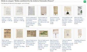 Catégorie contenant les 185 documents téléversés sur Wikimedia Commons par les Archives nationales