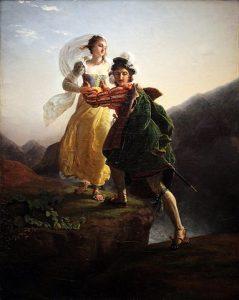 Bianca Capello et son amant ... Peinture de Jean-Louis Ducis - Domaine public