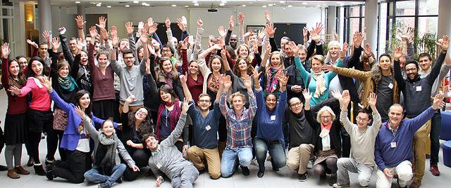 Les participants à l'edit-a-thon entrepreneuriat social - par Jérôme Bonpierre - CC-BY-SA 4.0