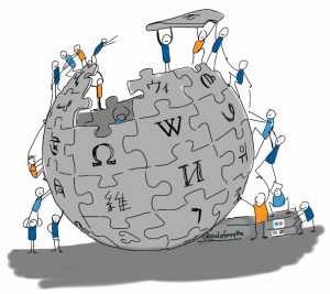 Logo de Wikipédia par Giulia Forsythe