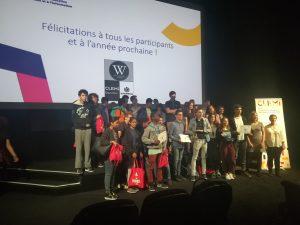 Remise des prix 2018 du Wikiconcours lycéen au centre pompidou