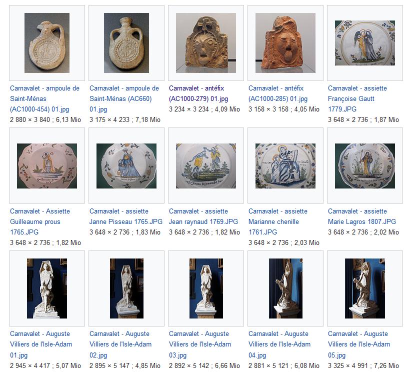 Photos des collections du Musée Carnavalet