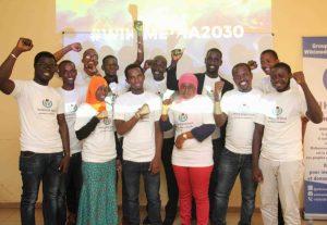 Photo de famille lors du Salon Stratégique National Wikimedia Guinée