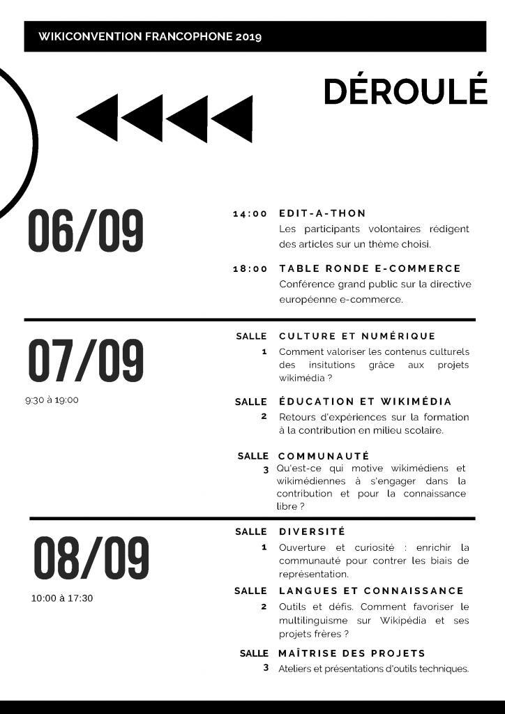 Programme de la Wikionvention francophone 2019