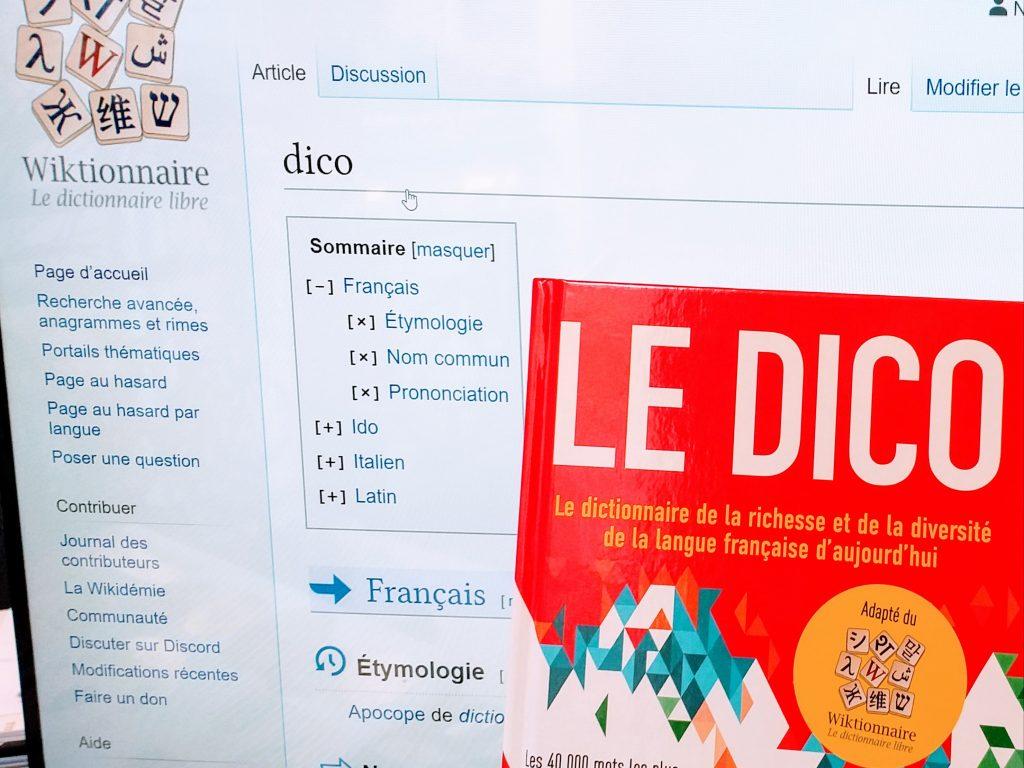 Le Dico adapté du Wikitionnaire