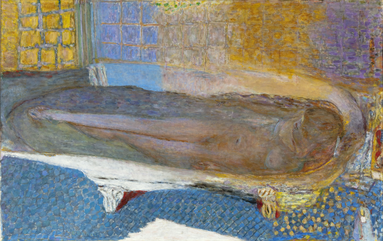"""Pierre Bonnard (1867-1947). """"Nu dans le bain"""". Huile sur toile, 1936. Paris, musée d'Art moderne."""