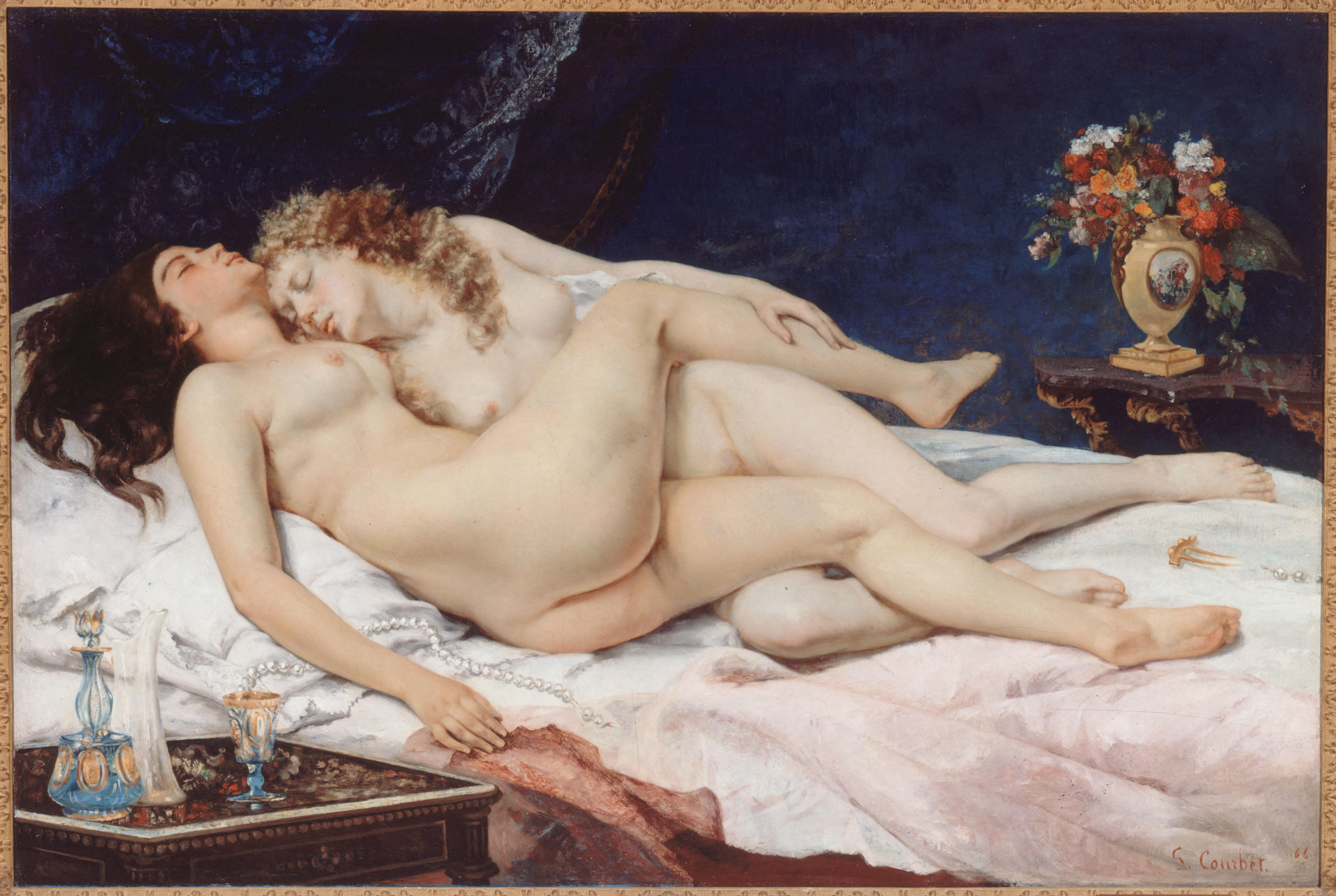 """Gustave Courbet (1819-1877). """"Le Sommeil"""", 1866. Musée des Beaux-Arts de la Ville de Paris, Petit Palais."""