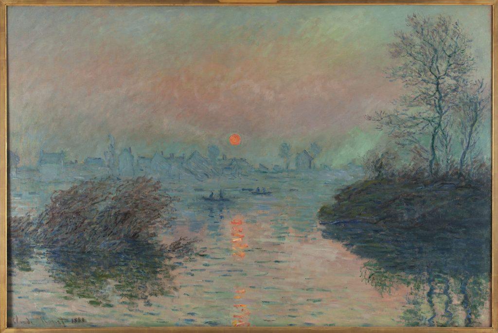 Soleil couchant à Lavacourt (détail)