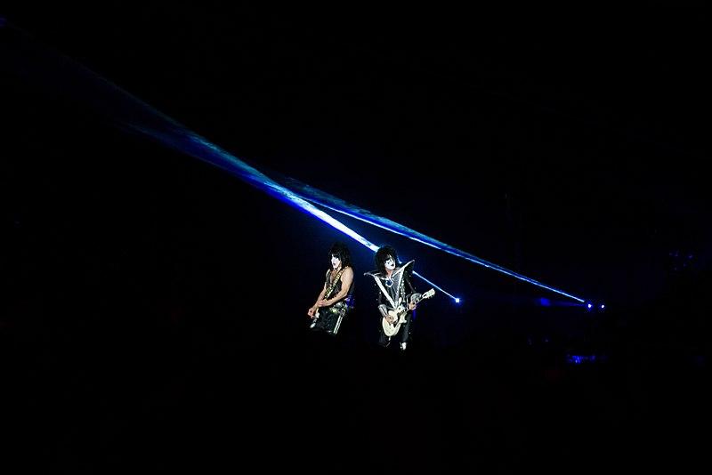 Concert du groupe américain Kiss au Hellfest 2019.