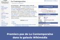 Les premiers pas de La contemporaine dans la galaxie Wikimédia